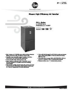 Rheem High Efficiency Air Handler