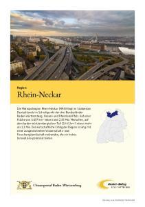 Rhein-Neckar. Region: