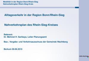 Rhein-Sieg. Nahverkehrsplan des Rhein-Sieg-Kreises. Berkum
