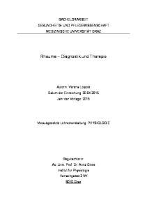 Rheuma Diagnostik und Therapie