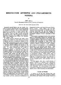 RHEUMATOID ARTHRITIS AND POLYARTERITIS NODOSA