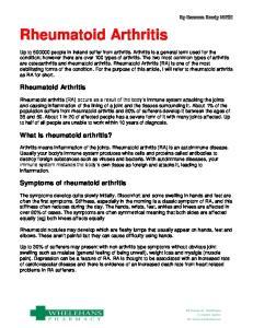 Rheumatoid Arthritis. Rheumatoid Arthritis. What is rheumatoid arthritis? Symptoms of rheumatoid arthritis