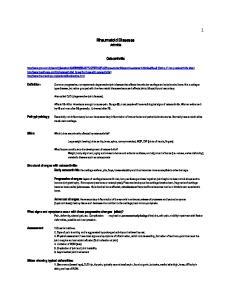 Rheumatoid Diseases Arthritis