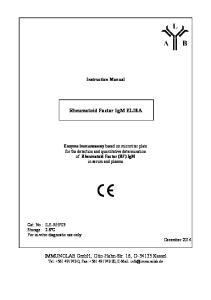 Rheumatoid Factor IgM ELISA