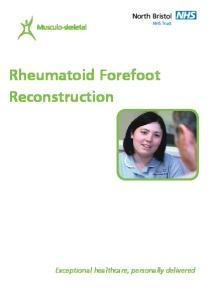 Rheumatoid Forefoot Reconstruction