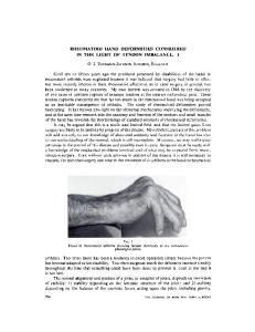 RHEUMATOID HAND DEFORMITIES CONSIDERED