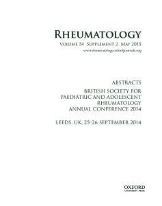 Rheumatology volume 54 Supplement 2 May 2015