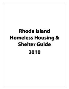 Rhode Island Homeless Housing & Shelter Guide 2010
