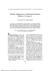 Ri etinitis pigmentosa is a retinal abnormality