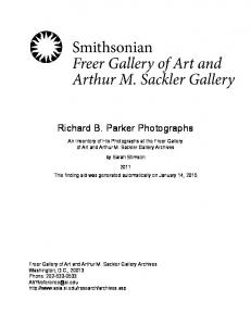 Richard B. Parker Photographs