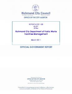 Richmond City Department of Public Works Facilities Management