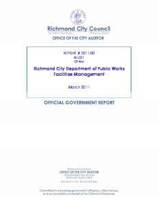 Richmond City Department of Public Works Facilities Management