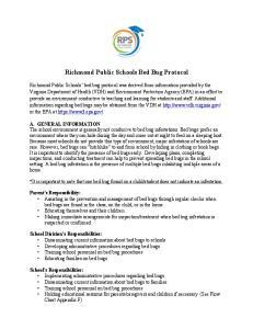 Richmond Public Schools Bed Bug Protocol