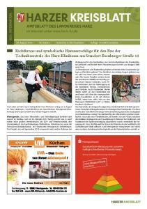 Richtkrone und symbolische Hammerschläge für den Bau der Technikzentrale des Harz-Klinikums am Standort Ilsenburger Straße 15