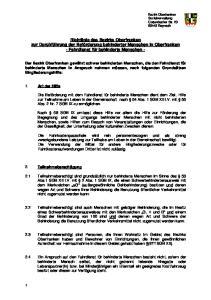 Richtlinie des Bezirks Oberfranken zur Durchführung der Beförderung behinderter Menschen in Oberfranken - Fahrdienst für behinderte Menschen -