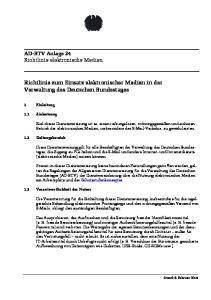 Richtlinie zum Einsatz elektronischer Medien in der Verwaltung des Deutschen Bundestages