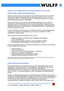 Richtlinien und Empfehlungen zur Dekubitusprophylaxe und therapie