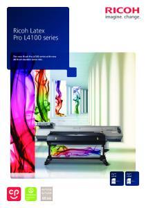 Ricoh Latex Pro L4100 series