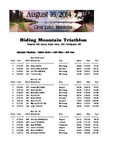 Riding Mountain Triathlon