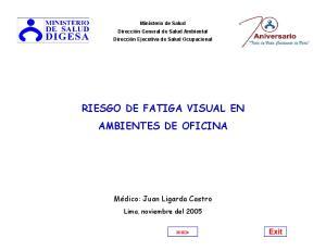 RIESGO DE FATIGA VISUAL EN AMBIENTES DE OFICINA