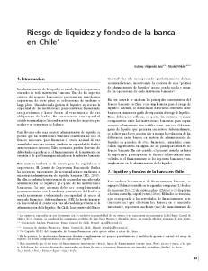 Riesgo de liquidez y fondeo de la banca en Chile *