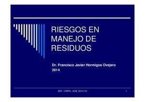 RIESGOS EN MANEJO DE RESIDUOS