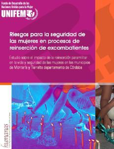 Riesgos para la seguridad de las mujeres en procesos de reinserción de excombatientes