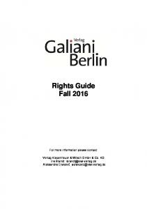 Rights Guide Fall 2016
