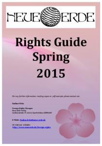 Rights Guide Spring 2015