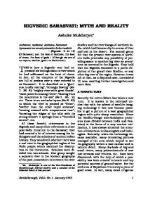RIGVEDIC SARASVATI: MYTH AND REALITY