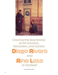 Rina Lazo and Diego Rivera at the Lerma Pumping Station. Crossing the Boundaries of Art Practice, Education, and Gender Diego Rivera