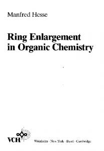 Ring Enlargement in Organic Chemistry