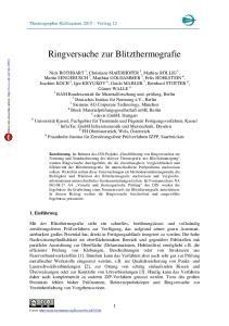 Ringversuche zur Blitzthermografie