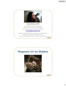 Ringworm 101 for Shelters