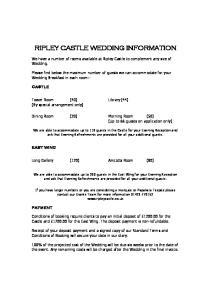 RIPLEY CASTLE WEDDING INFORMATION