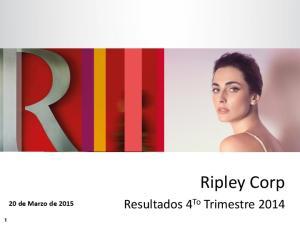 Ripley Corp. 20 de Marzo de 2015