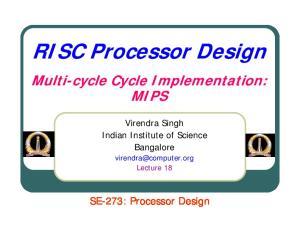 RISC Processor Design