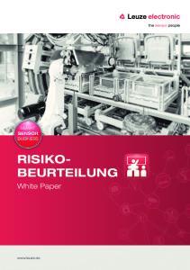 RISIKO BEURTEILUNG. White Paper