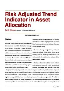 Risk Adjusted Trend Indicator in Asset Allocation