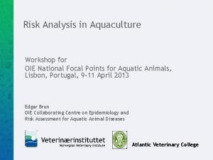 Risk Analysis in Aquaculture