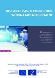 RISK ANALYSIS OF CORRUPTION WITHIN LAW ENFORCEMENT