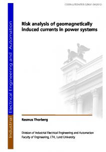 Risk analysis of geomagnetically induced currents in power systems