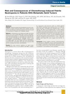 Risk and Consequences of Chemotherapy-Induced Febrile Neutropenia in Patients With Metastatic Solid Tumors