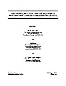 RISK AND UNCERTAINTY ANALYSIS PROCEDURES FOR THE EVALUATION OF ENVIRONMENTAL OUTPUTS