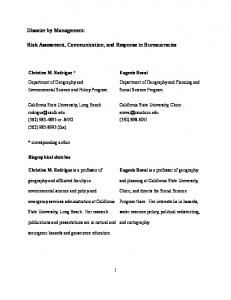 Risk Assessment, Communication, and Response in Bureaucracies