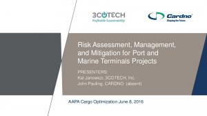 Risk Assessment, Management, and Mitigation for Port and Marine Terminals Projects