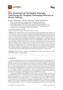 Risk Assessment of Distribution Networks Considering the Charging-Discharging Behaviors of Electric Vehicles