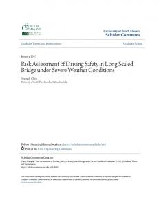 Risk Assessment of Driving Safety in Long Scaled Bridge under Severe Weather Conditions