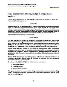 Risk assessment of knowledge management system