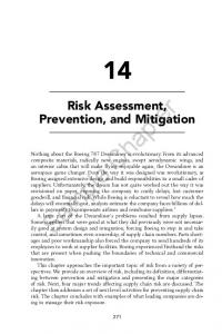 Risk Assessment, Prevention, and Mitigation